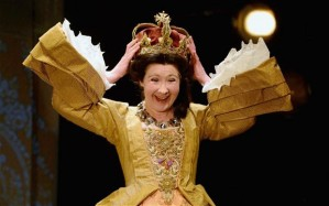 Driven mad: Irene Allan as Queen in in Union at the Royal Lyceum, Edinburgh Photo: Jeff J Mitchell/Getty