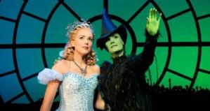 Emily Tierney (Glinda) and Nikki Davis-Jones (Elphaba)