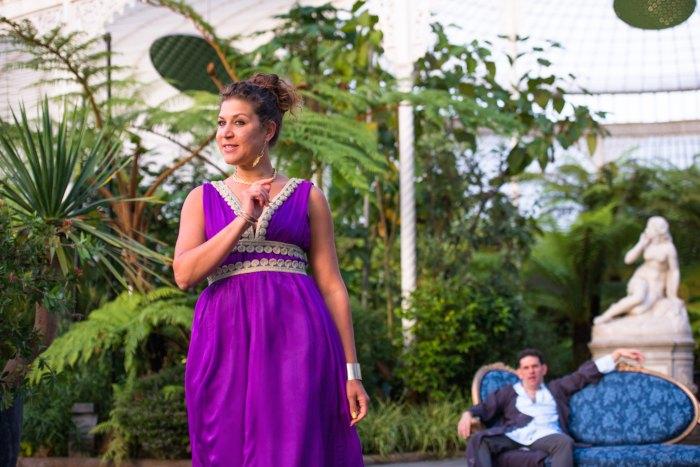 Nicole Cooper as Cleopatra in Antony & Cleopatra, Bard in the Botanics 2018, photcredit TOMMY GA-KEN WAN